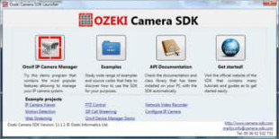 Screenshot about Ozeki Camera SDK.