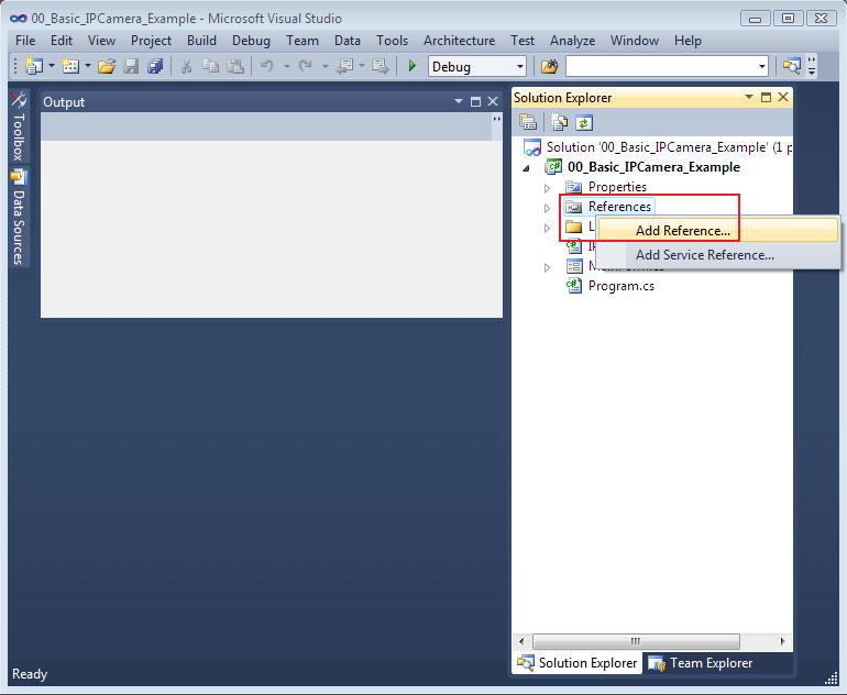 How to start working in Visual Studio