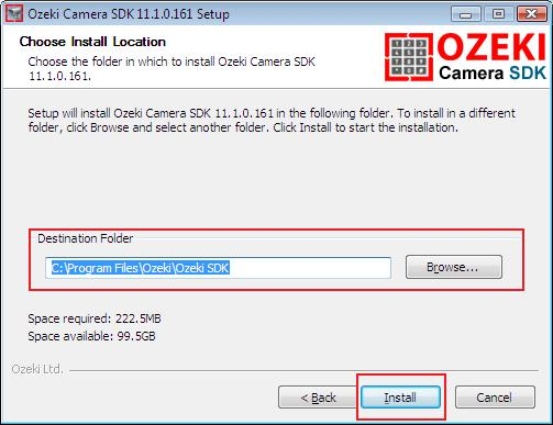 How to determine the installation folder for Ozeki Camera SDK