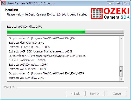 Installation of Ozeki Camera SDK