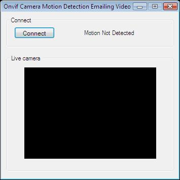 The Graphical User Interface for an application that handles alarms by recording video and sending it as an e-mail in C#