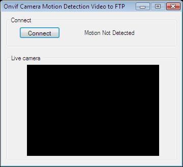 The Graphical User Interface of an application that handles alarms by recording video and uploading it to an FTP server in C#