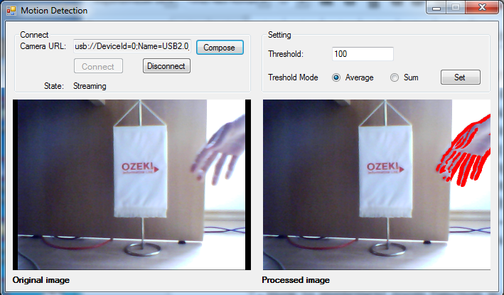 gui of an application for barcode scanning/qr code detecting from the video stream of a usb camera in c#