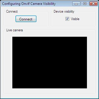 The Graphical User Interface of an application for turning camera visibility on/off for Onvif discovery in C#