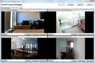 Screenshot about Onvif IP Camera Manager demo program.