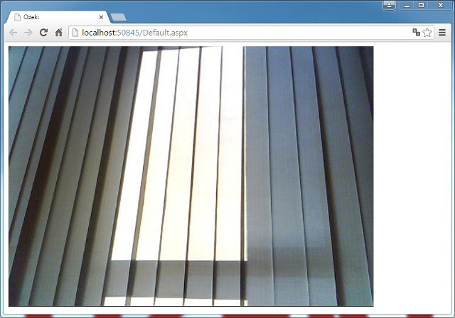 camera image in web browser